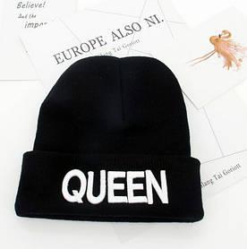 Шапка Queen чорна+ білі букви 4555 1395951163