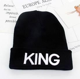 Шапка King чорна+ білі букви 4557