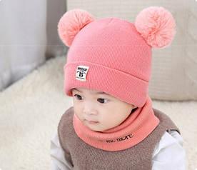 Комплект шапка+хомут Moonlight рожевий 4530 1395951173