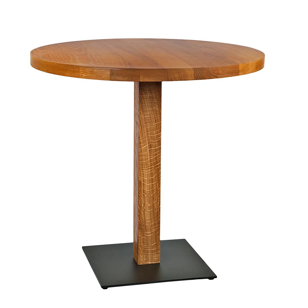 """Деревянный стол в кафе и ресторан """"horeca"""" из массива диаметр 70"""