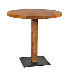 """Дерев'яний стіл в кафе і ресторан """"horeca"""" з масиву діаметр 70"""