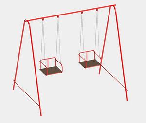 Дитячі гойдалки Dali 710-K подвійні металеві підвісні для вулиці для дачі