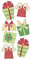 "Набор наклеек ""Подарки"", 7,5х16,5 см, Heyda"