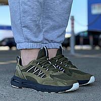 Мужские кроссовки молодежные цвета хаки, кеды демисезонные 41-45 р подошва пена спортивные без бренда