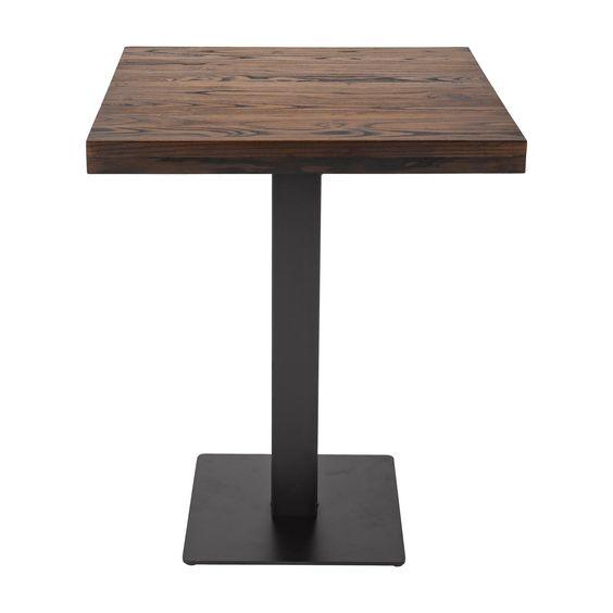 Квадратный столик для кафе и ресторанов из массива дерева 60х60