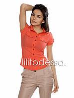 Рубашка короткий рукав красный, фото 1