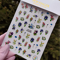 Наклейки для ногтей цветы, растения са №216 Nail Stikers
