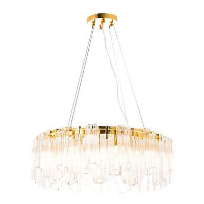 Люстра круглая с стеклянным декором LED 40W (ZW072/8)