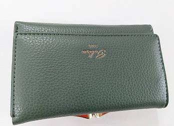 Жіночий гаманець Balisa C7601 зелений Жіночий гаманець з штучної шкіри закривається на магніт