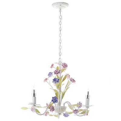 Люстра винтажная на 3 лампы с цветами и листочками (SA019/3)