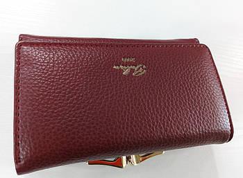 Жіночий гаманець Balisa C7601 бордовий Жіночий гаманець з штучної шкіри закривається на магніт