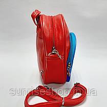 Рюкзак для мальчиков Супер Мен кожзаменитель красный, фото 3
