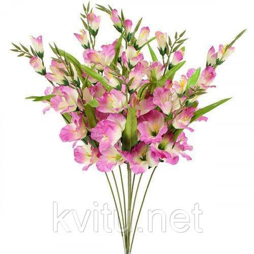 Искусственные цветы гладиолус Люкс одиночная ветка, 64см