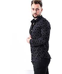 Стрейчева чорна дизайнерська футболка з малюнком L, XL