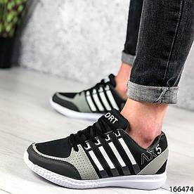 Женские кроссовки черные из эко кожи 1396017359