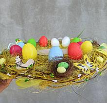 Пасхальна тарілка-підставка для паски та яєць білого кольору