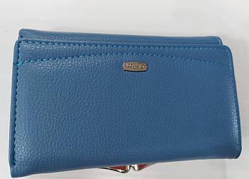 Жіночий гаманець Balisa C7601 блакитний Жіночий гаманець з штучної шкіри закривається на магніт