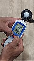 Цифровой люксметр (измеритель освещенности + термометр) Bluetooth 200000 Lux WINTACT WT81B