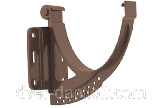 Кронштейн желоба металлический Альта-Профиль Элит 125 мм коричневый, фото 2
