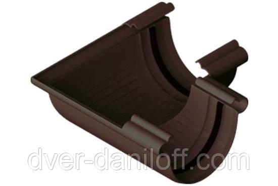 Угол желоба Альта-Профиль Элит 90 градусов 125 мм коричневый, фото 2