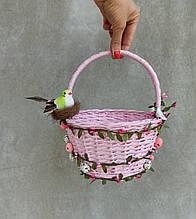 Рожевий Дитячий великодній кошик для дівчаток