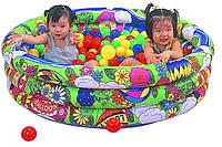 Детский бассейн Яркий мир+100 мячиков 70 мм Unix Tent LI-620B