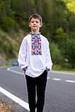 """Вишита сорочка для хлопчика """"Квіткова долина"""", фото 7"""