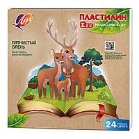 """Пластилін""""Промінь"""" 24кол.360г Zoo 30C1809-08"""
