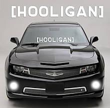 """Наклейка на стекло """"HOOLIGAN"""" или любая надпись под заказ. Наклейки на стекло авто, на кузов, куда угодно.в"""