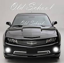 """Наклейка на стекло """"OLD School"""" или любая надпись под заказ. Наклейки на стекло авто, на кузов, куда угодно"""