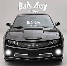 """Наклейка на стекло """"Bad Boy"""" или любая надпись под заказ. Наклейки на стекло авто, на кузов, куда угодно"""