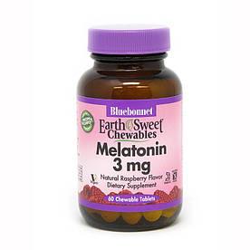 Відновник Bluebonnet Earth Sweet Chewables Melatonin 3 mg, 60 жувальних таблеток