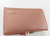 Женский кошелек Balisa C7684 пудра Небольшой женский кошелек с искусственной кожи закрывается на кнопку
