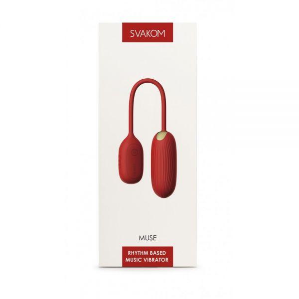 Музыкальный вибратор-яйцо Muse Red Svakom с Bluetooth управлением