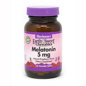 Відновник Bluebonnet Earth Sweet Chewables Melatonin 5 mg, 120 жувальних таблеток