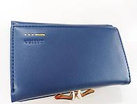 Женский кошелек Balisa C7684 синий Небольшой женский кошелек с искусственной кожи закрывается на кнопку