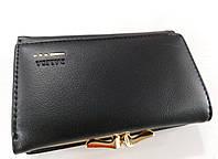 Жіночий гаманець Balisa C7684 Невеликий чорний жіночий гаманець з штучної шкіри закривається на кнопку, фото 1