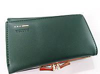 Женский кошелек Balisa C7684 зеленый Небольшой женский кошелек с искусственной кожи закрывается на кнопку