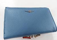 Женский кошелек Balisa C7684 голубой Небольшой женский кошелек с искусственной кожи закрывается на кнопку