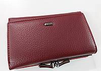 Женский кошелек Balisa C7684 бордовый Небольшой женский кошелек с искусственной кожи закрывается на кнопку