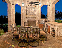 Дизайнерська кованая мебель в сад