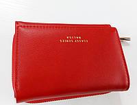Женский кошелек Balisa C6602 красный Небольшой женский кошелек с искусственной кожи закрывается на кнопку
