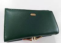 Жіночий гаманець Balisa C7601 зелений Жіночий гаманець з штучної шкіри закривається на магніт, фото 1