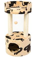 "Когтеточилка с лежанкой ""Башня"" для кота, 76см, жаккард"
