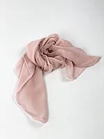 Хустка жіночий пудровий рожевий з тонкого шифону KSVx2