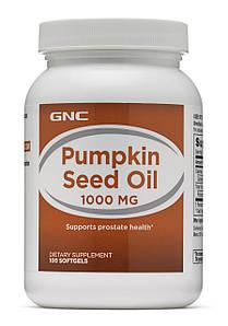 Натуральна добавка GNC Pumpkin Seed Oil 1000, 100 капсул
