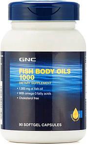 Жирные кислоты GNC Fish Body Oils 1000, 90 капсул