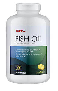 Жирные кислоты GNC Fish Oil, 360 капсул