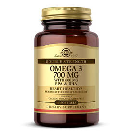Жирные кислоты Solgar Double Strength Omega 3 700 mg, 30 капсул