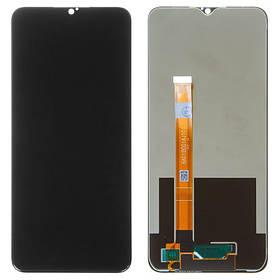 Дисплей (экран) для Realme 5s с сенсором (тачскрином) черный